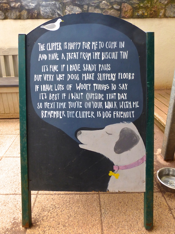 clipper-dog-friendly-shaldon-dog-sign