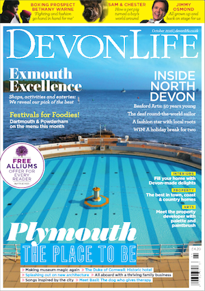 Devon Life magazine cover October 2016 Plymouth image