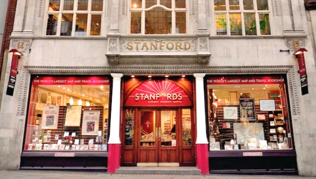 Exterior of Stanfords Travel Bookshop