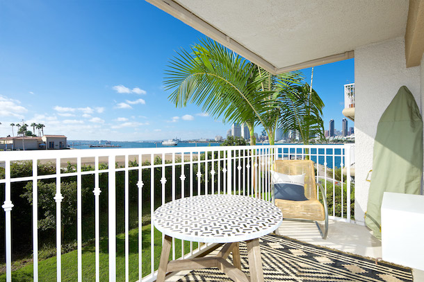 dog friendly broadstone coronado balcony off studio overlooking bay
