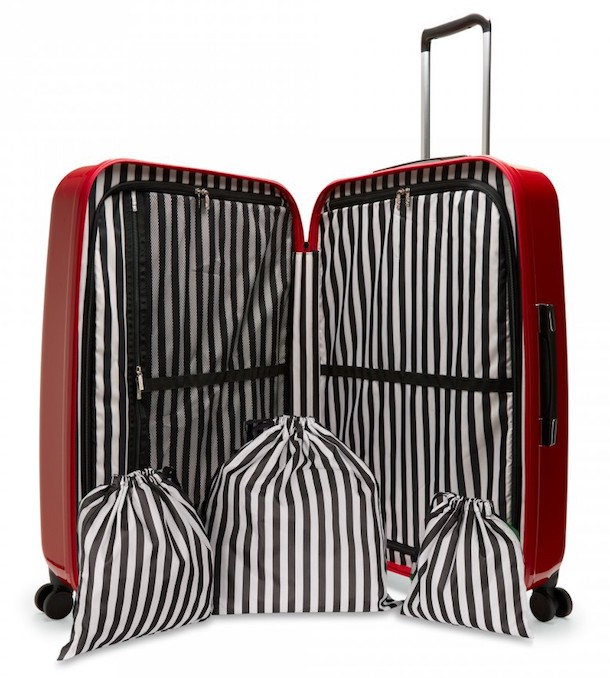 Lulu Guinness interior shot of suitcase