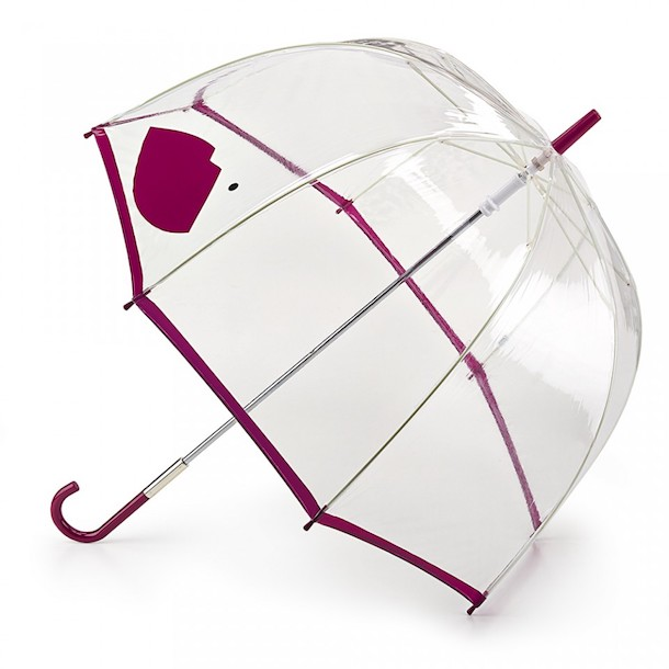 Lulu Guinness birdcage brolly with lip print