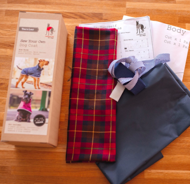 kit for sewing a dog coat
